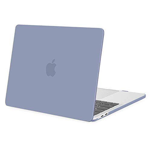 MOSISO Compatible with MacBook Pro 13 inch Case 2016-2020 Release A2338 M1 A2289 A2251 A2159 A1989 A1706 A1708 with/Without Touch Bar, Protective Plastic Hard Shell Case Cover, Lavender Gray
