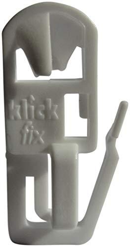 rewagi Klickfix Gardinengleiter- das Original - 20, 40, 60, 80, 100, 200 Stück (60 Stück)