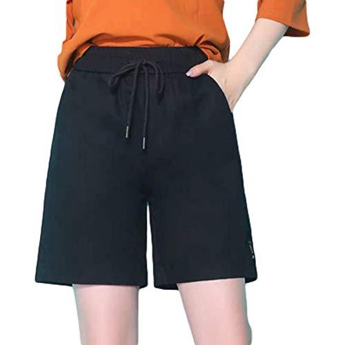 Fainash Pantalones Cortos de Carga para Mujer, Moda Simple, Cintura Alta, Sueltos, de Talla Grande, para Viajes al Aire Libre, Pantalones Cortos Deportivos básicos con cordón XXL