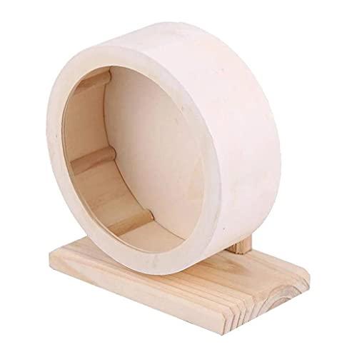 CWYPDL MPJCHWYP - Rueda de ejercicio de madera para hámster, silenciador, para rata y jerbos, chinchillas, erizos, ratones, cobayas, tamaño grande