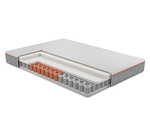 OctaSleep Smart Plus Matratze 180x200 – Matratze mit flexiblen Federn aus Memory Foam – 3 Zonen für ideale Unterstützung – atmungsaktiv und kühlend