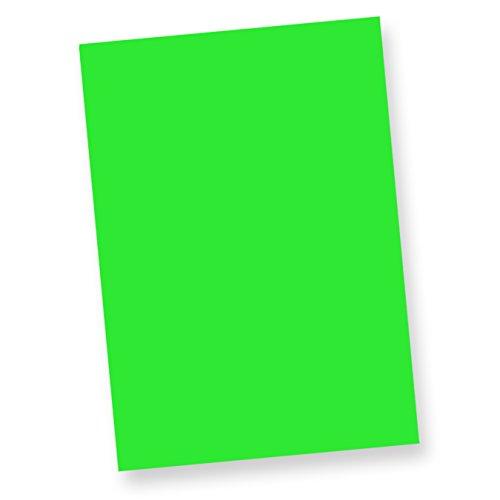 TATMOTIVE Fine50 Neonpapier Extrem Grell NEON (50 Blatt) DIN-A-4, 80 g/qm farbiges Briefpapier, Leuchtpapier - Grün