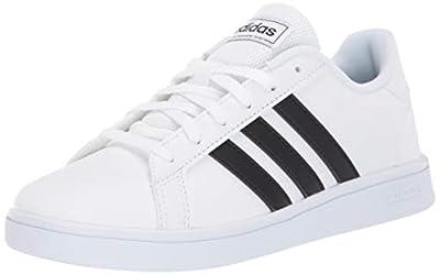 adidas Unisex Grand Court Sneaker, Black/White, 11K M US Little Kid