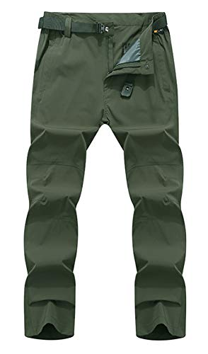 Geval Men's Outdoor Windproof Quick Drying Climbing Hiking Pants XS Army Green