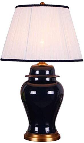 YFQH Lámpara de Mesa de cerámica Moderna Minimalista lámpara de Mesa Dormitorio lámpara de Noche lámpara de Cama lámpara de Noche lámpara de Noche,Blue