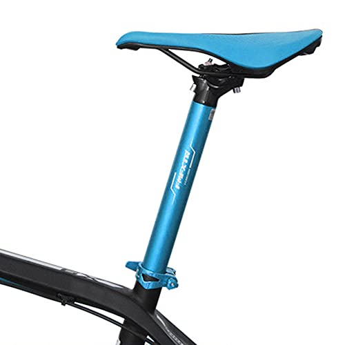 QINGCHU Tija de sillín para bicicleta, 31,6 mm, 27,2 mm, ultraligera, plegable, para bicicleta de montaña