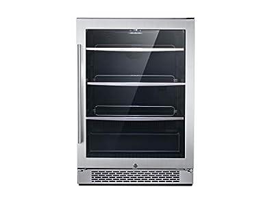 Hanover HBV60201-Luxury Series 24 172-Can Capacity and Door Lock Single Zone Beverage Center