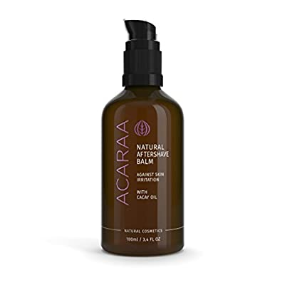ACARAA Organic Aftershave Balm For Women, Vegan Aftershave Lotion For The Body, After-Shave Moisturiser Against Razor Burn, Ingrown Hair & Pimples After Shaving, Natural Cosmetics From Germany, 100ml