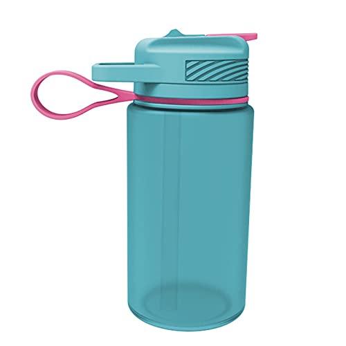 LQXZJ Taza De Agua Plegable De Silicona Creativa Portátil De 1L, Botella para Deportes Al Aire Libre, Taza De Agua con Pajita Portátil, Duradera, Muy Adecuada para Gimnasio, Fitness, Deportes Al Aire