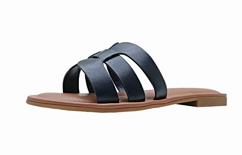 The Drop Women's Monika Flat H-Band Slide Sandal