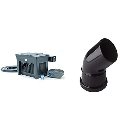 Oase BioSmart Set 18000 Durchlauffilterset & schwarz Verbindungsbogen DN75/45