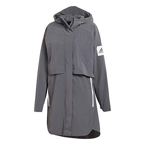 adidas Myshelter Rain Jacket Chaqueta Impermeable para Mujer, Gris, M