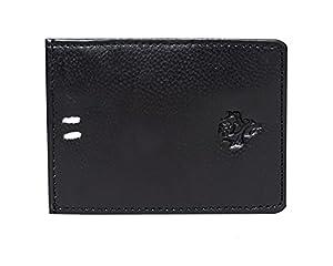 VINTAGE9 Magflip Leather Unisex Mag Wallet - Black