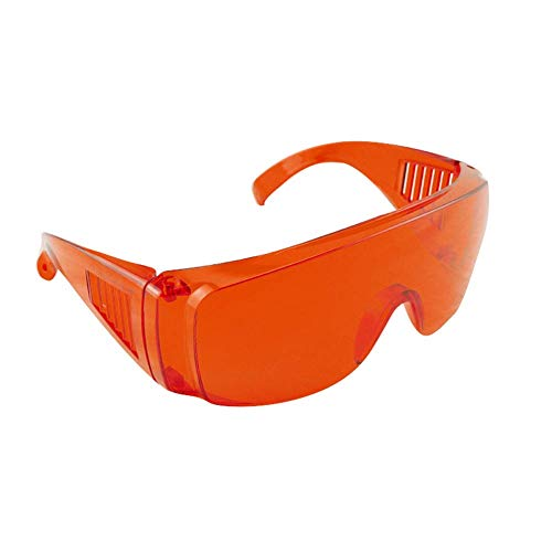 FveBzem Dental Lab Safety Glasses Dental Eyewear for Teeth Whitening Light Anti-Fog Safety Goggles Eye Shield Safety Glasses LED Protective Goggle, Perfect for Construction, Shooting, Lab Work