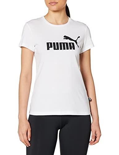 PUMA Camiseta para Mujer con Logotipo ESS, Mujer, Camiseta, 851787_02, Blanco, XXX-Large