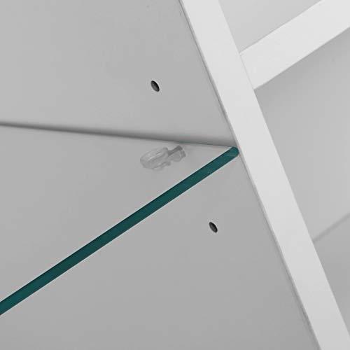 Cerlingwee Armario, luz LED Estructura Estable Armario Duradero Armario de Almacenamiento de vajilla Moderna con Estante de 3 Niveles para Comedor para Sala de Estudio para Hombres y Mujeres