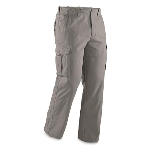 Guide Gear Cargo Pants for Men with Pockets Cotton, Tactical Work Hiking Military Pants, Gray, W36 L30