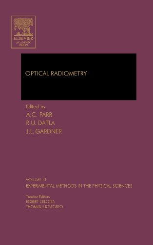 Compare Textbook Prices for Optical Radiometry Volume 41 Experimental Methods in the Physical Sciences Volume 41 1 Edition ISBN 9780124759886 by Parr Ph.D.  MS in Physics  BS in Physics with Honors and BS in Mathematics, Albert C.,Datla, Raju,Gardner, James