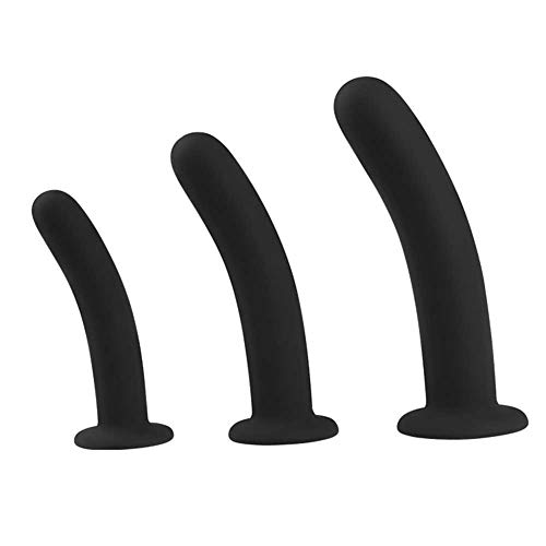 MeterMall Silicone Butt Plug Dildo with Suction Cup Base Vaginal G-spot Anal Plug Sex Toys for Adults S