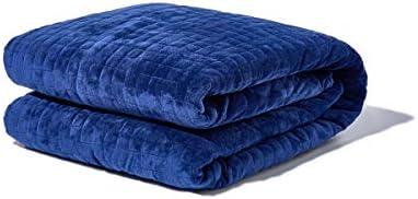 Gravity Blanket: Weighted Blanket, la coperta ponderata per il sonno, blu navy, 121cm x 182cm, 11kg