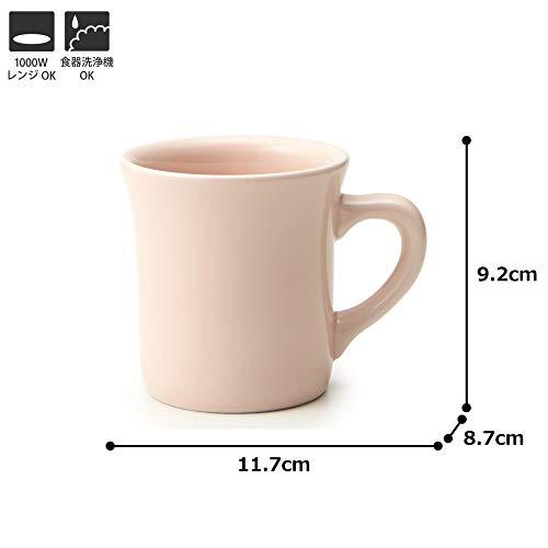 TAMAKI マグカップ コージー ピンク 直径11.7×奥行8.7×高さ9.2cm 300ml 電子レンジ・食洗機対応 日本製 T-893326