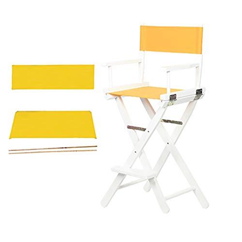 YTYZD Nueva Trona Silla de Fundas for sillas de Lona Directores Cubierta de Repuesto sillas de Asiento 1 Set y 2 Plana Stick (Amarillo)