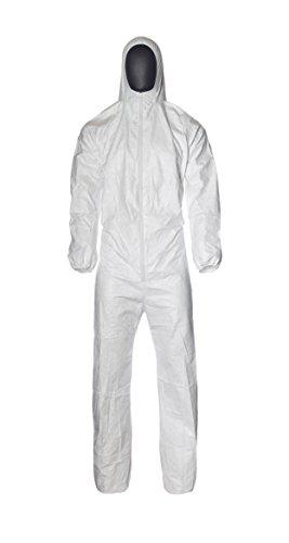 DuPont ProShield 4 Practik   Ropa de Protección Química con Capucha y Elásticos   Con Interior Antiestático   Blanco   Talla XL