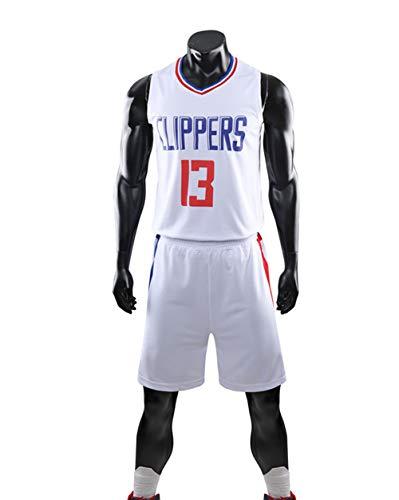 YZQ Trajes De Baloncesto para Niños, Los Angeles Clippers # 13 Paul George Camisetas De Baloncesto De La NBA Suelta Chaleco Transpirable Tops Casual Deportes Camisetas + Pantalones Cortos
