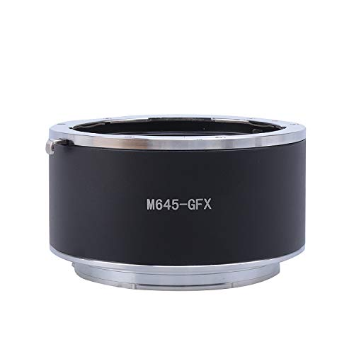 Hersmay M645 to GFX Lens Mount Adapter Compatible with Mamiya 645 (M645) Mount Lens to Fuji G-Mount Fit for Fujifilm GFX 50S, GFX 50R, GFX 100, and VG-GFX1 Mirrorless Camera Body