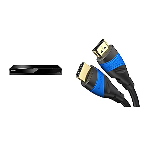 Panasonic DP-UB424EGK Ultra HD Blu-ray Player (4K Blu-ray Disc, schwarz) & KabelDirekt – 2 m – 4K HDMI-Kabel (spektakuläres Ultra-HD-Erlebnis, schwarz)