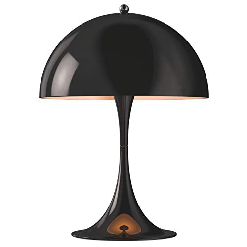 Panthella Mini Table Lamp, Louis Poulsen, Tischleuchte Entworfen von Verner Panton (Schwarz)