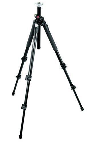 Manfrotto 190XPROB Stativ Pro (2 Auszüge, Belastbarkeit bis 5 kg, 146 cm Höhe) schwarz ohne Kopf