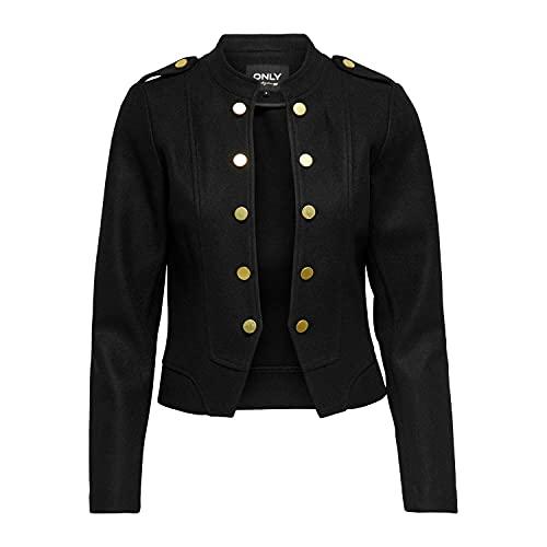Only Onlemma Anette Blazer CS Otw Chaqueta de Uniforme, Negro, S para Mujer