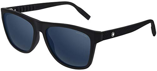 Montblanc gafas de sol MB0062S 002 Negro azul talla 56 mm de Hombre