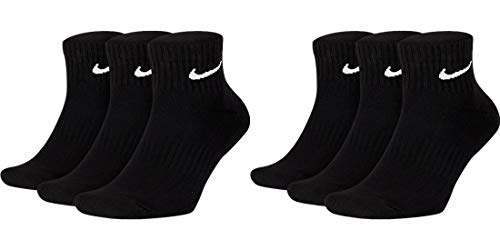 Nike Everyday Lightweight Ankle Calcetines 6 pares de color negro. 46-50