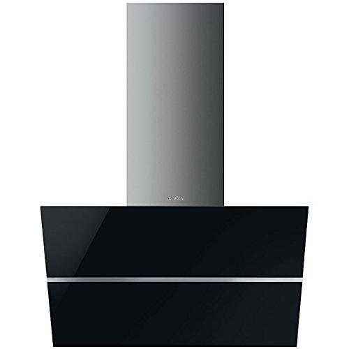 Smeg KCV80NE2 Monté au mur Noir, Acier inoxydable 720m³/h A hotte - Hottes (720 m³/h, Conduit, A, A, F, 65 dB)