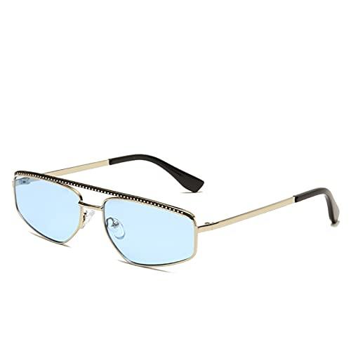 YTYASO Gafas de Sol cuadradas Metal Colorido Unisex Hombres Mujeres Moda Gafas de Sol Hombre Mujer para Mujeres Hombres