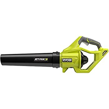 Ryobi RY40406BTL 40 Volt 110 MPH 500 CFM Cordless Jet Fan Leaf Blower 40V Bare Tool  Battery and Charger NOT Included  …  Renewed