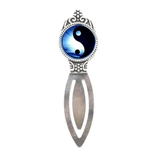 Segnalibro in vetro di cristallo Yin Yang Tai Chi Time, segnalibro spirituale BFF segnalibro yin yang Charm Bookmark, PU008