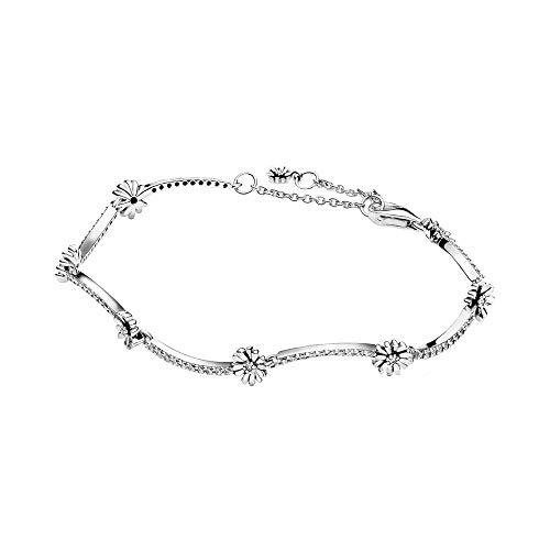 Pandora Silber-Armband für Damen Funkelndes Gänseblümchen 598807C01, 598807C01-16, 16 cm