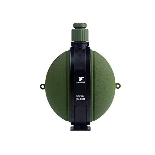 KYSM Creative Sports Camouflage Bouteille Grande Capacité Silicone Pliant Coupe Alpinisme en Plein Air Portable Bouilloire 580 ML Armée Vert