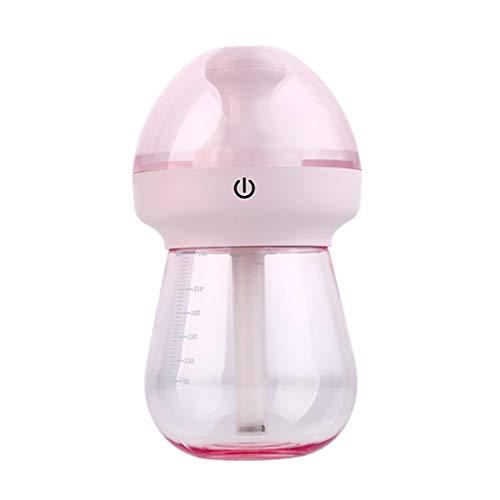 240ML draagbare USB-oplaadluchtbevochtiger LED-nachtlampje thuiskantoor Auto-luchtbevochtigers Mistmaker Luchtreinigerroze