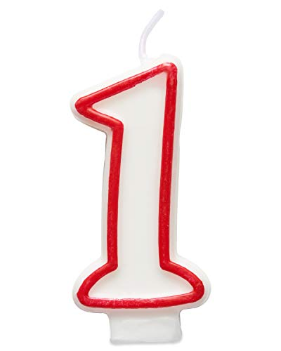 American Greetings Party Supplies Birthday Candle, Number 1 (1-Count)