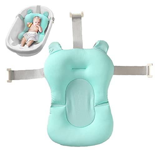 Zonster Cojín del Baño del Bebé Plegable Antideslizante Bañera Cojín del Asiento De Bañera para Bebés Y Niños Pequeños Soporte Accesorio Verde