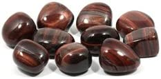 CrystalAge High order Red Tiger Daily bargain sale Eye Tumble 20-25mm Stone - Single