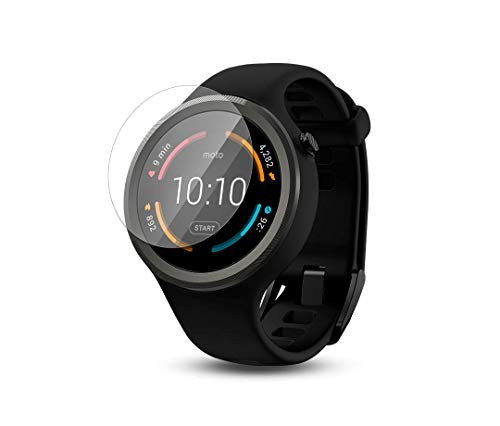 2-Pack Military Grade Scratch-Resistant Ripclear Compatible with Garmin Forerunner 630 Smartwatch Screen Protector Kit All-Weather Protection Crystal Clear