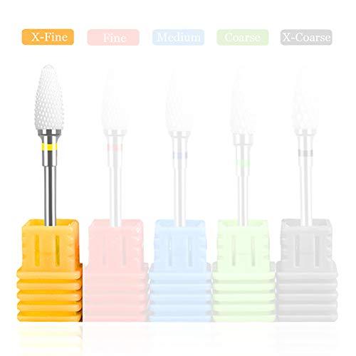 Keramische nagel Boor, River Lake Professional USA Elektrische Nail Bits voor Acryl Nagels, Veiligheid Cuticle Clean Gel Verwijderen, 3/32