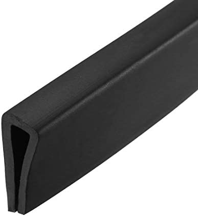 uxcell Edge Trim U Seal Black PVC Plastic U Channel Edge Protector Fits 3 32 9 64 Edge 20 Feet product image
