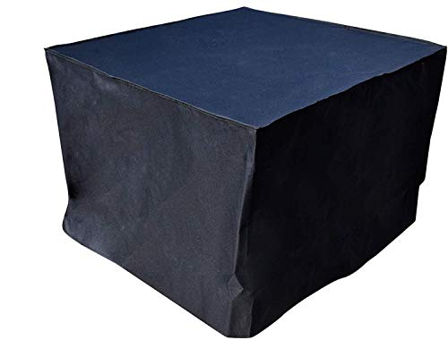 Quickflame 28 Inch Square Outdoor Firepit Cover - Dimensions 30 inches (L) X 30 inches (W) X 24 inches (H) (Black)