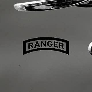 HELMET WALL ART WALL DECAL CAR VINYL NOTEBOOK US ARMY RANGER TAB EMBLEM INSIGNIA DECORATION HOME DECOR BLACK AUTO LAPTOP